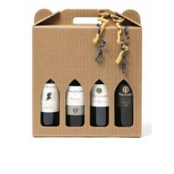 4 vine i gaveæske
